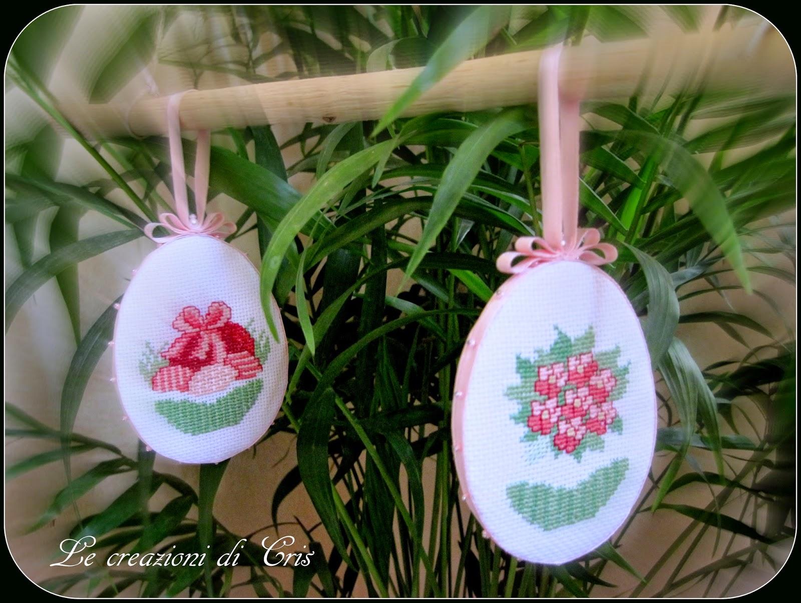 PAP Ovos Decorativos para a Páscoa BordadoPontoCruz 01