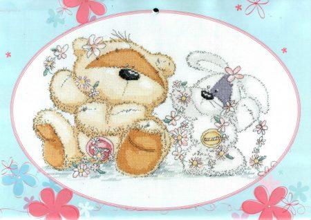 Urso Ursinho Fuzzy Moon BordadoPontoCruz 31
