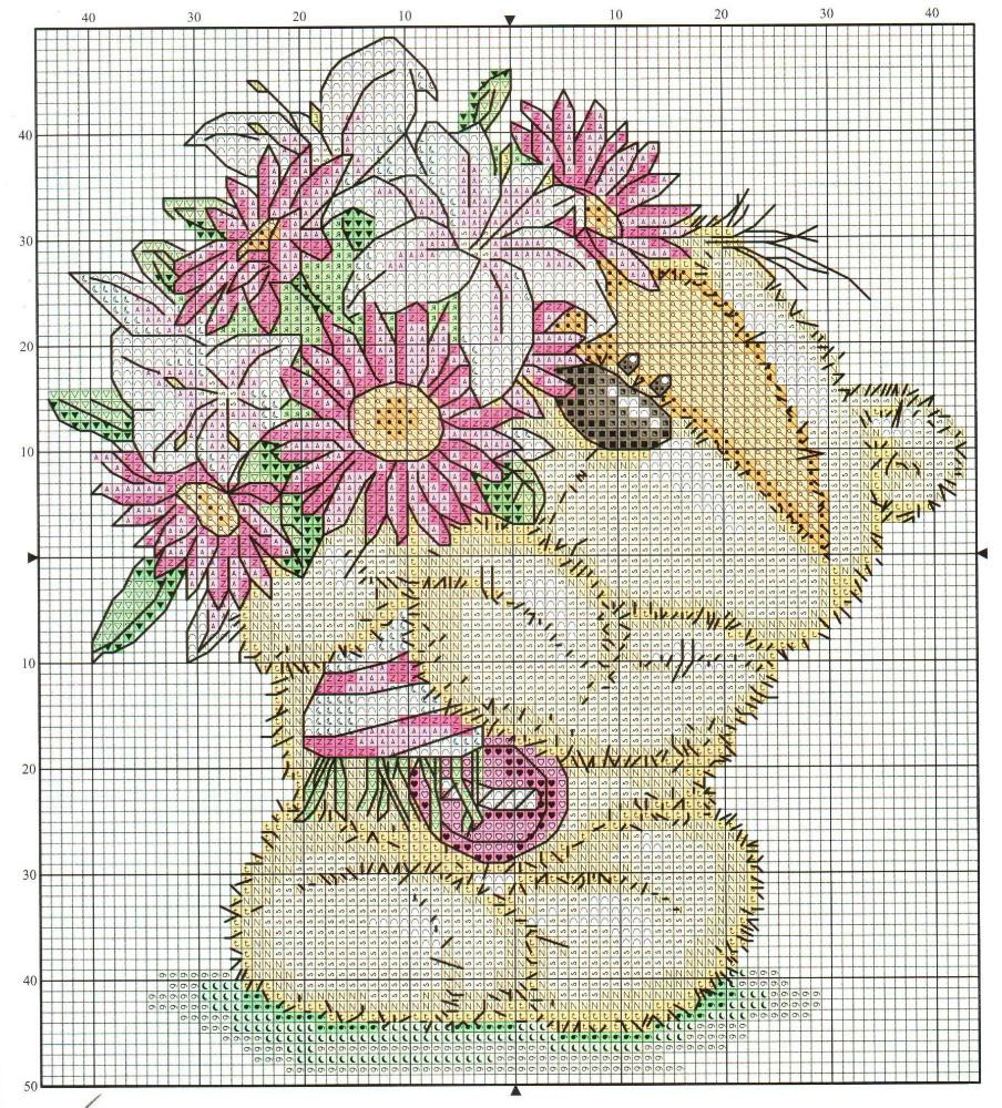 Urso Ursinho Fuzzy Moon BordadoPontoCruz 34