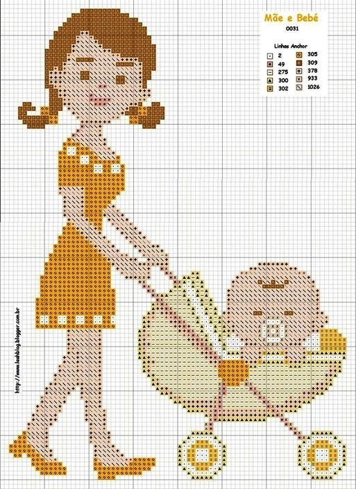 Coleção Dia das Mães BordadoPontoCruz com 08