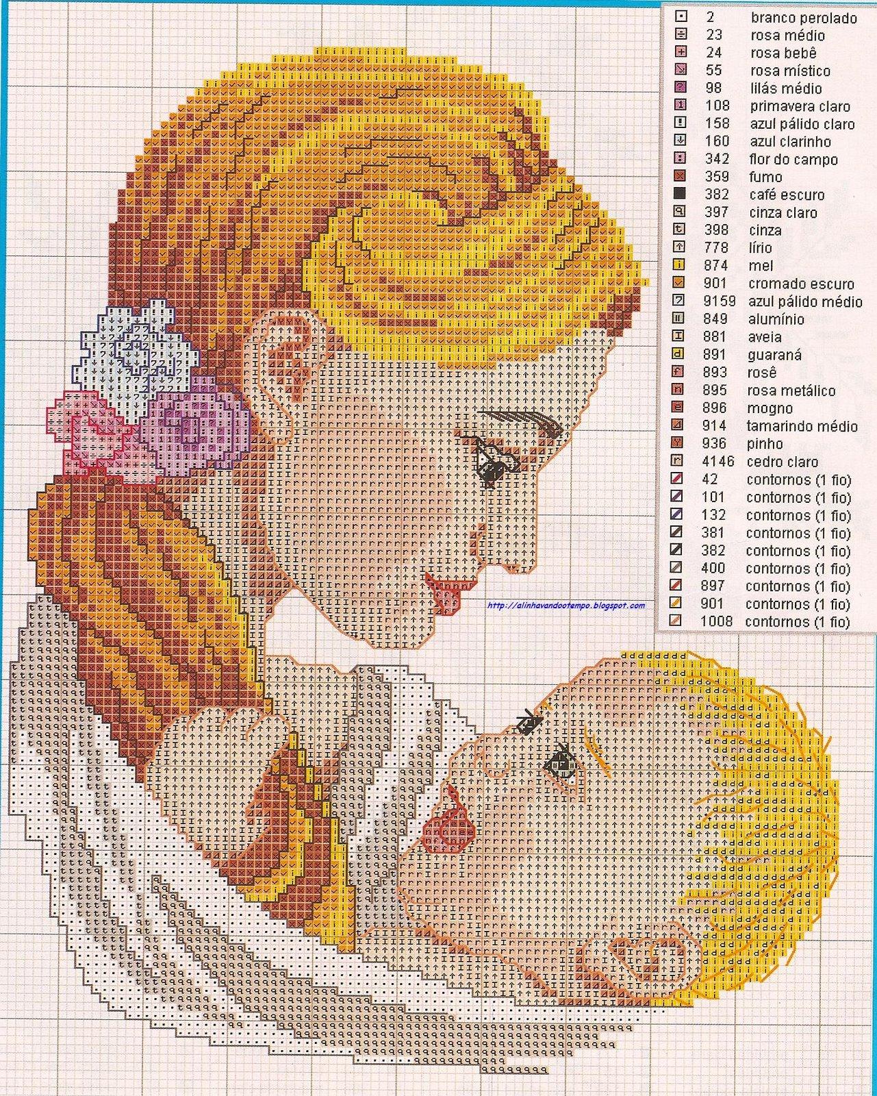 Coleção Dia das Mães BordadoPontoCruz com 15