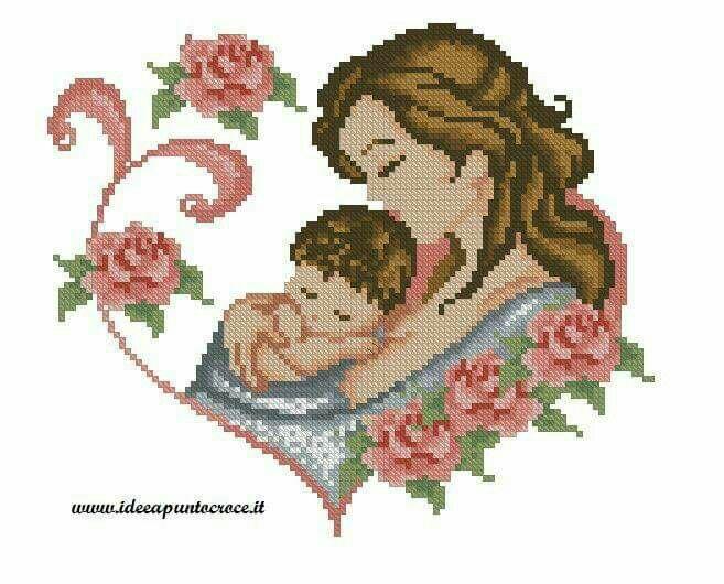 Coleção Dia das Mães BordadoPontoCruz com 16