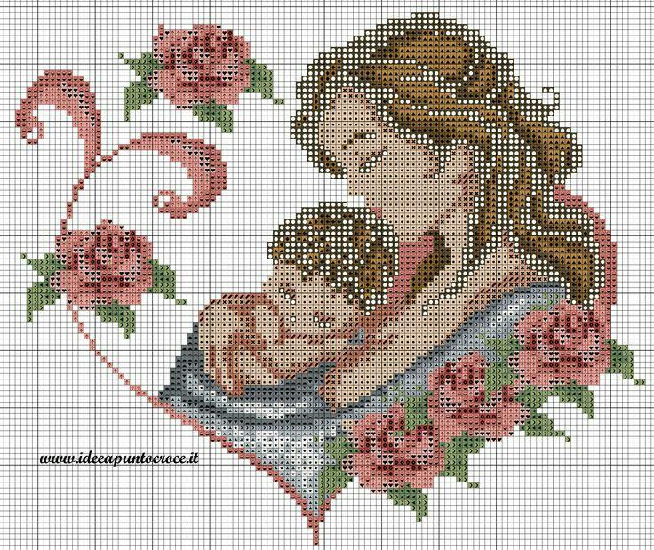 Coleção Dia das Mães BordadoPontoCruz com 17