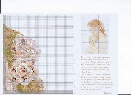 Quadro Mãe segurando Bebê Delicado BordadoPontoCruz 03