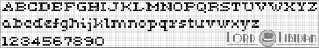Monograma Alfabeto Pequenos BordadoPontoCruz com 08