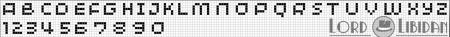 Monograma Alfabeto Pequenos BordadoPontoCruz com 09