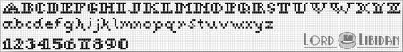 Monograma Alfabeto Pequenos BordadoPontoCruz com 12