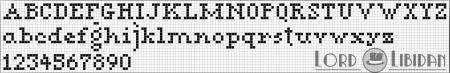 Monograma Alfabeto Pequenos BordadoPontoCruz com 15