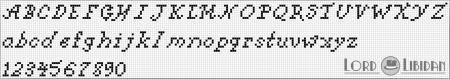 Monograma Alfabeto Pequenos BordadoPontoCruz com 16
