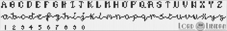 Monograma Alfabeto Pequenos BordadoPontoCruz com 21