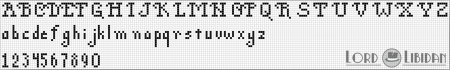 Monograma Alfabeto Pequenos BordadoPontoCruz com 22