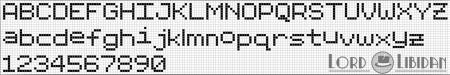 Monograma Alfabeto Pequenos BordadoPontoCruz com 25