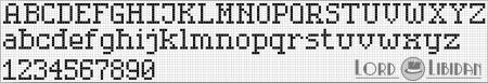 Monograma Alfabeto Pequenos BordadoPontoCruz com 29