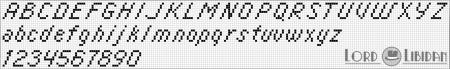 Monograma Alfabeto Pequenos BordadoPontoCruz com 36