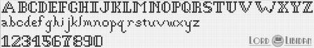 Monograma Alfabeto Pequenos BordadoPontoCruz com 42