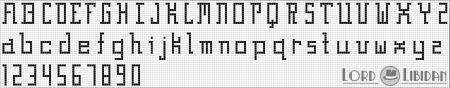 Monograma Alfabeto Pequenos BordadoPontoCruz com 44