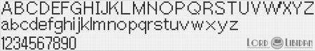 Monograma Alfabeto Pequenos BordadoPontoCruz com 45