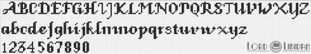 Monograma Alfabeto Pequenos BordadoPontoCruz com 47