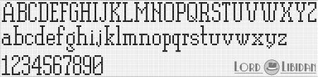 Monograma Alfabeto Pequenos BordadoPontoCruz com 51