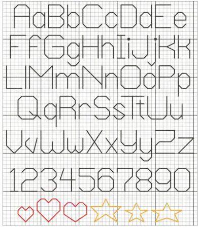 Monograma Alfabeto Pequenos BordadoPontoCruz com 58