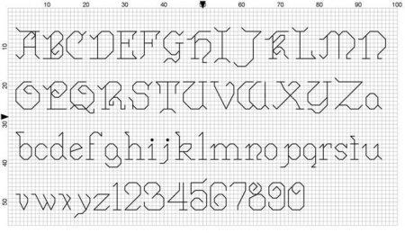 Monograma Alfabeto Pequenos BordadoPontoCruz com 59