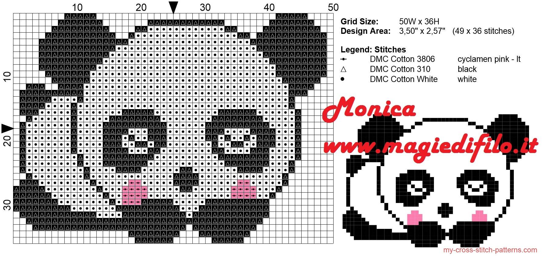 Urso Ursinho Panda BordadoPontoCruz 008