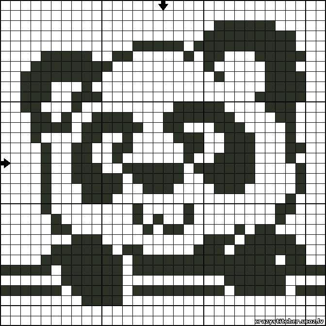 Urso Ursinho Panda BordadoPontoCruz 015