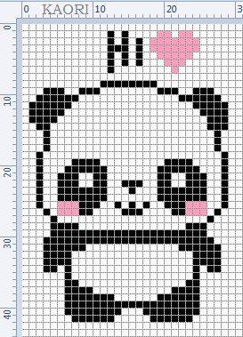 Urso Ursinho Panda BordadoPontoCruz 021