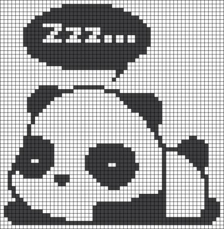 Urso Ursinho Panda BordadoPontoCruz 022
