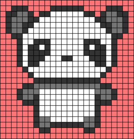 Urso Ursinho Panda BordadoPontoCruz 023