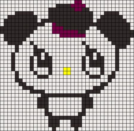 Urso Ursinho Panda BordadoPontoCruz 028