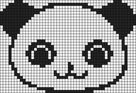 Urso Ursinho Panda BordadoPontoCruz 033