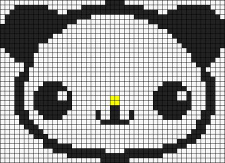 Urso Ursinho Panda BordadoPontoCruz 034