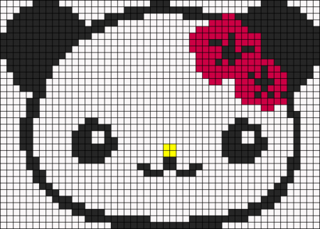 Urso Ursinho Panda BordadoPontoCruz 036