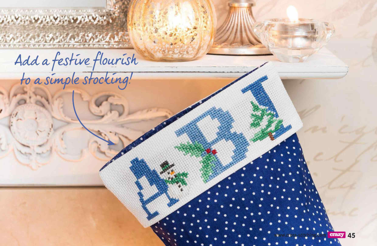 Alfabeto Natal Neve Azul BordadoPontoCruz 00