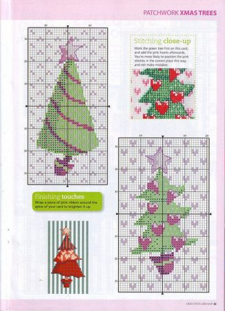 Arvores de Natal BordadoPontoCruz 03