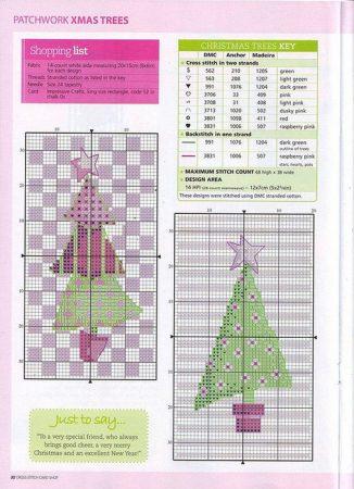 Arvores de Natal BordadoPontoCruz 05