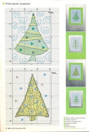 Arvores de Natal BordadoPontoCruz 07