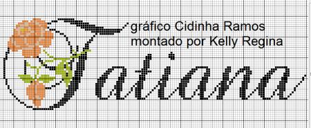 Nome Tatiana BordadoPontoCruz 04