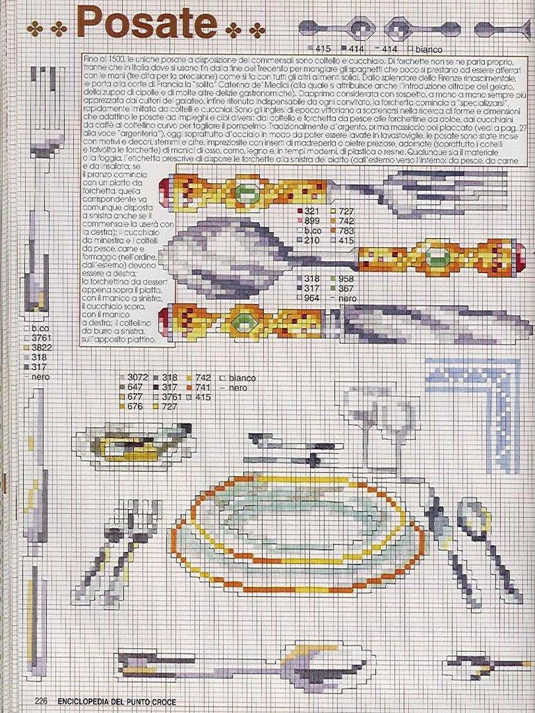 Cozinha Bules panelas e utensilios de cozinha BordadoPontoCruz com 14