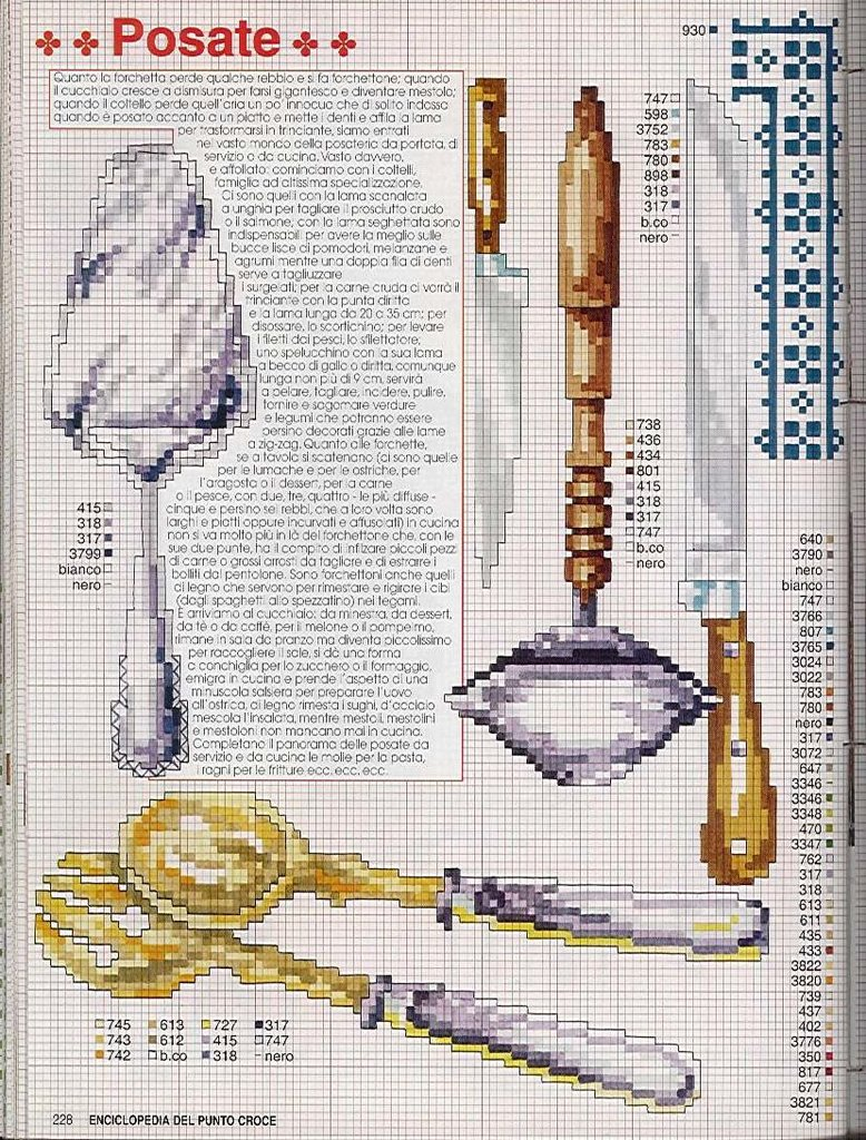 Cozinha Bules panelas e utensilios de cozinha BordadoPontoCruz com 16