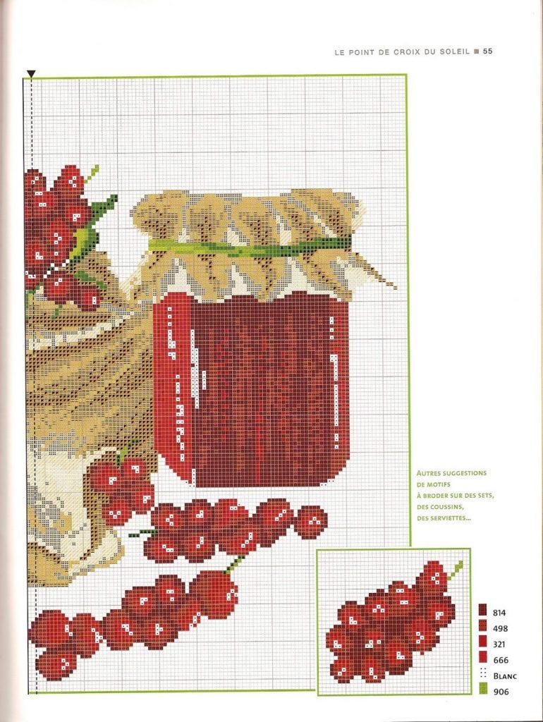 Cozinha Bules panelas e utensilios de cozinha BordadoPontoCruz com 29