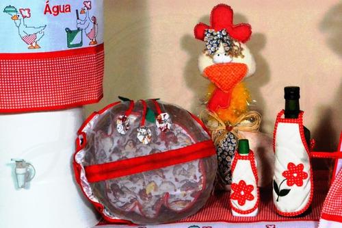 Avental ou capa para potes BordadoPontoCruz 01