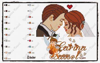Frases Noivado e Casamento BordadoPontoCruz com 32