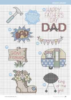 Colecao Dia dos Pais Bordado Ponto Cruz pt2 14