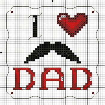 Colecao Dia dos Pais Bordado Ponto Cruz pt2 19a